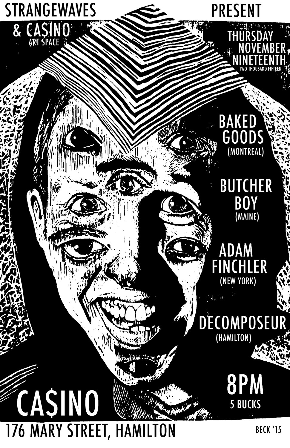 DECOMPOSEUR/ADAM FINCHLER/BAKED GOODS/BUTCHER BOY  @Casino Artspace