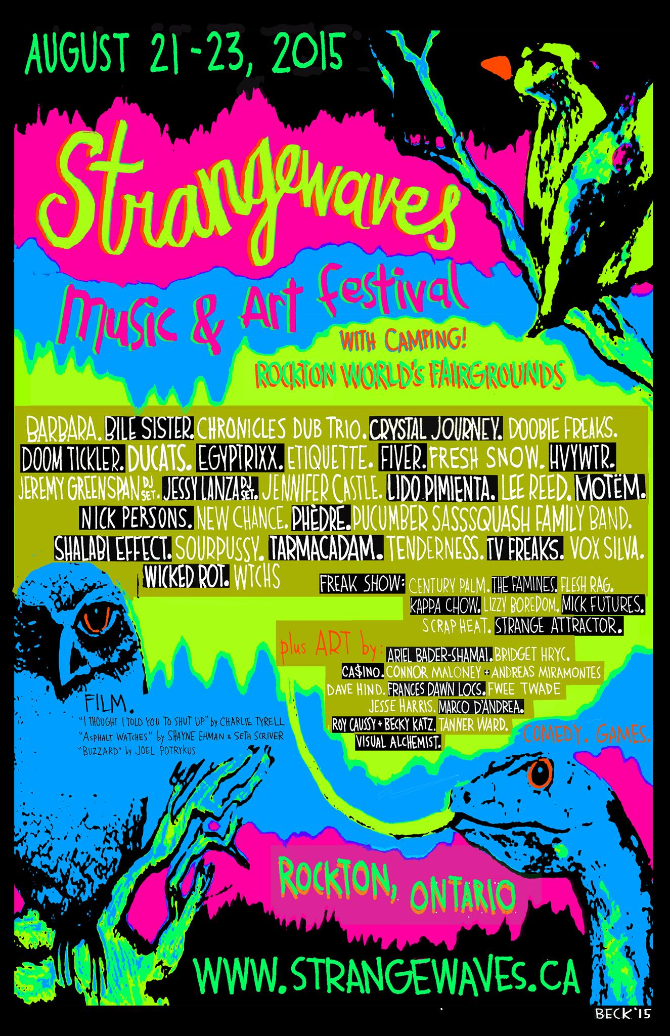 Strangewaves Music & Art Festival 2015  @Rockton World's Fairground