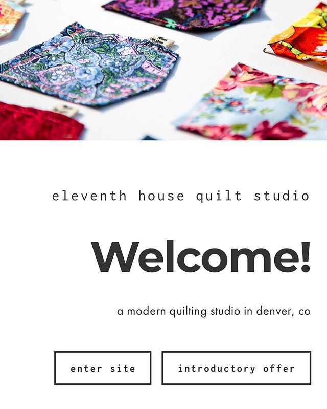 the website is up! more services will be added soon, but for now you can read about and schedule longarm quilting services. welcome to eleventh house! 🥳