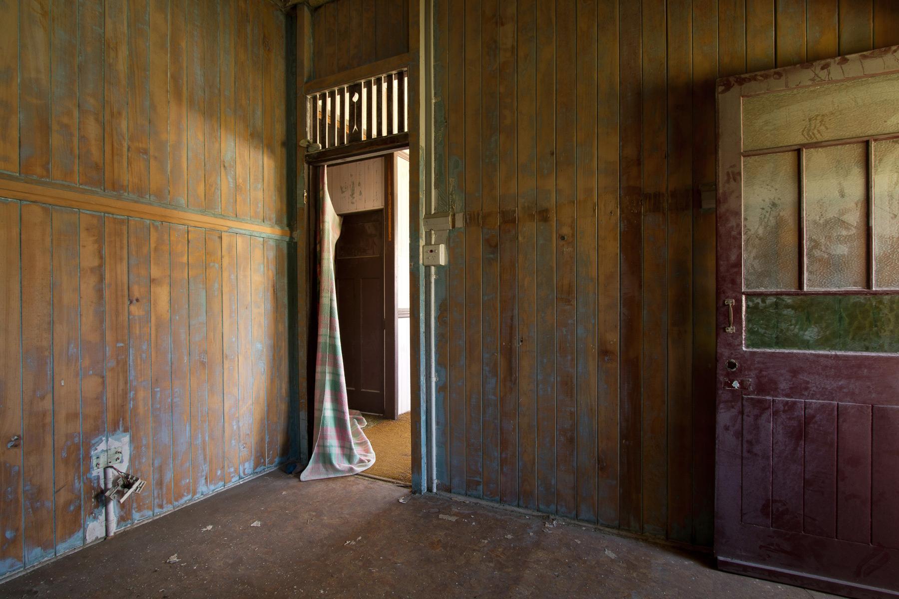 A room inside an abandoned house in Buranda, Brisbane