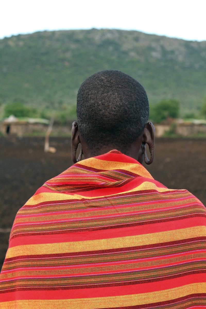A Maasai man in Kenya, Africa
