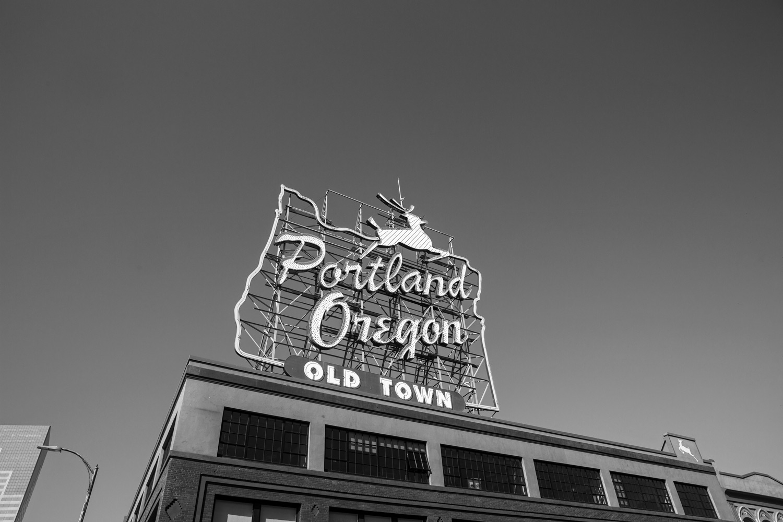 The White Stag sign in Portland, Oregon