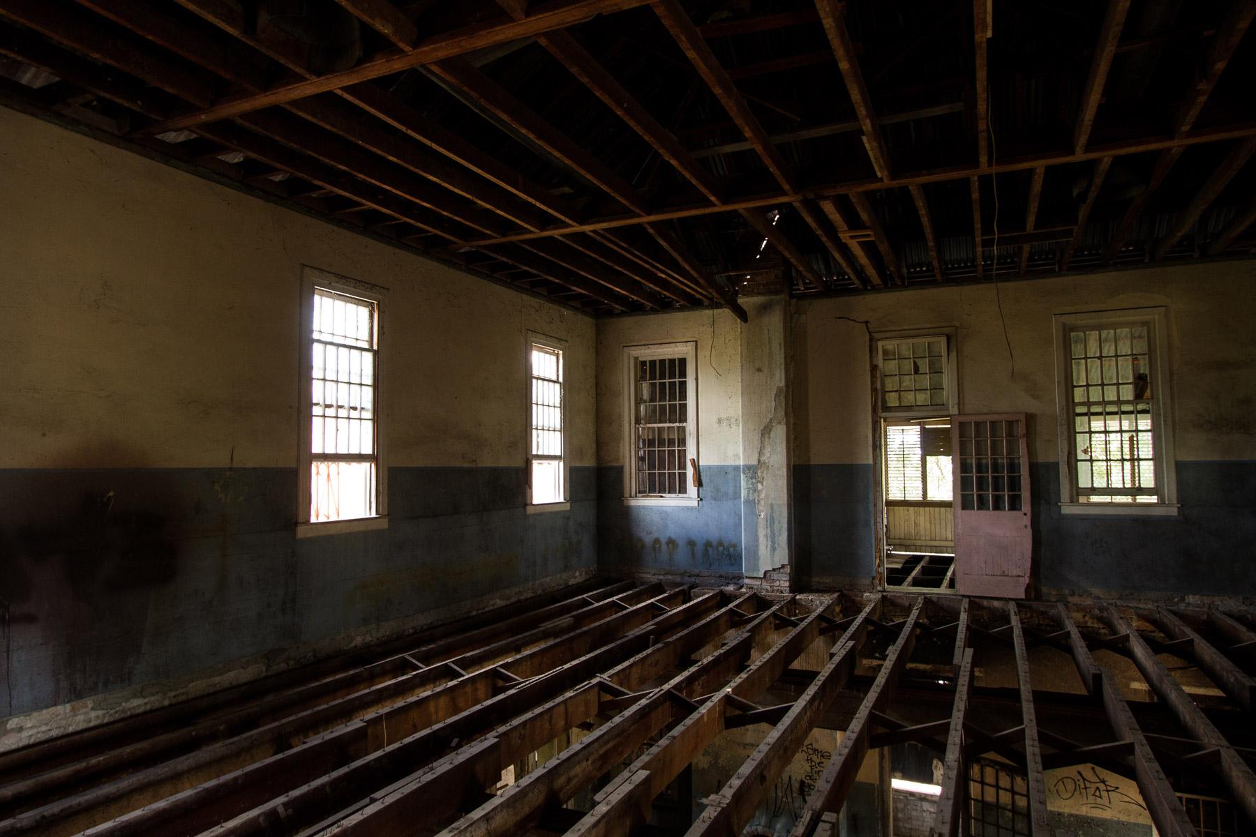 A room inside the abandoned Woogaroo Lunatic Asylum in Brisbane