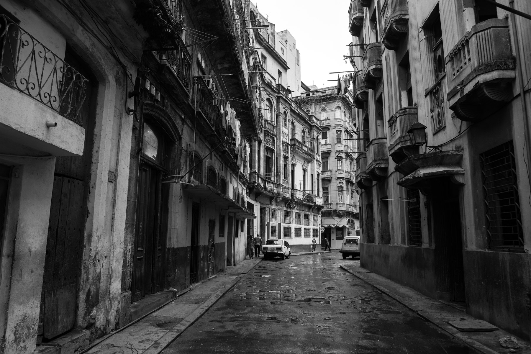 A street in Centro Havana after rain