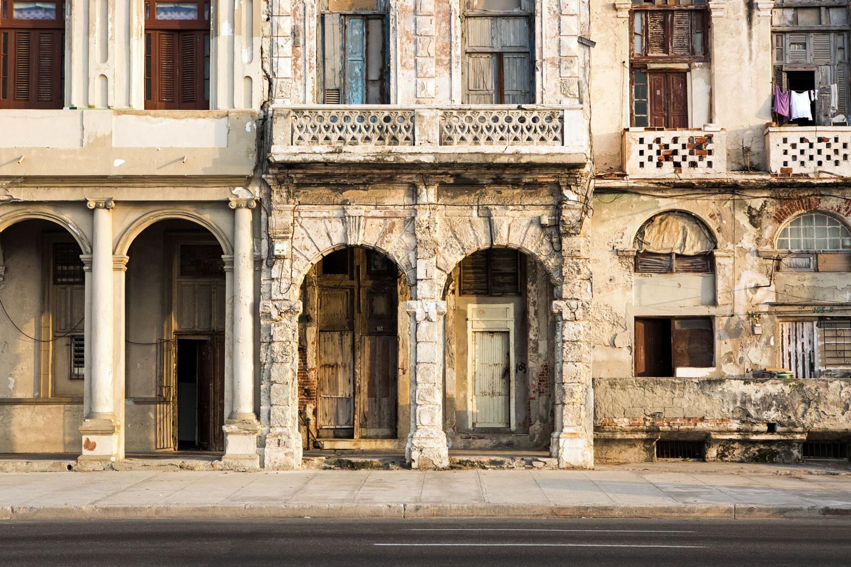 A building on the Malecon in Havana, Cuba