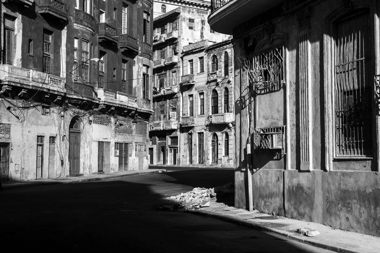 An empty street in Centro Havana, Cuba