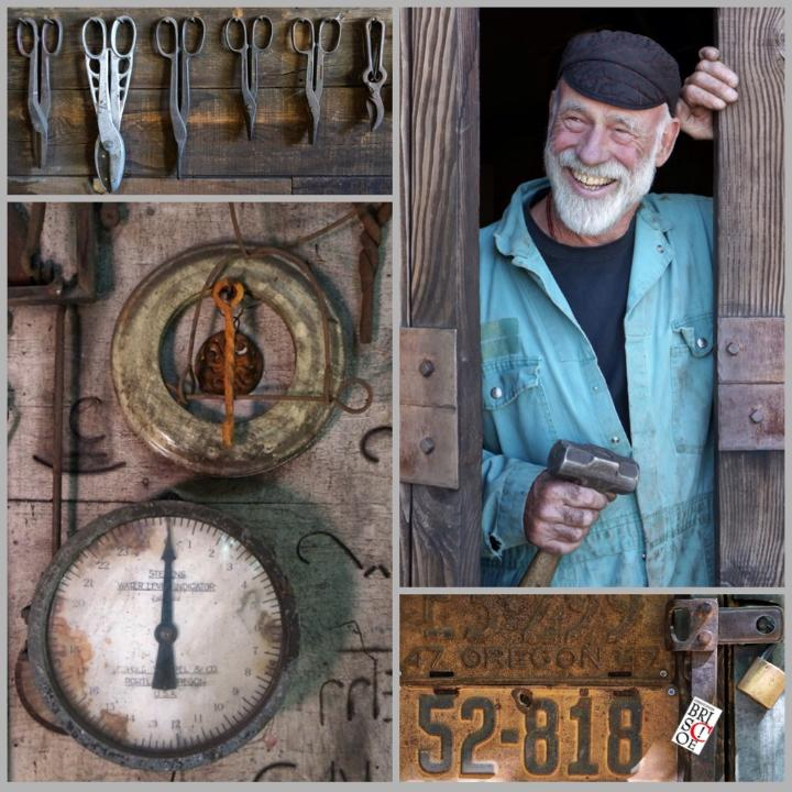 Denny Debey- - Since 1974 Denny has been welding and creating metal functional artwork. His full Blacksmith creation and repair shop & yard has been a crucial pillar in Ashland for farmers, homeowners, and anyone needing a metal fix.