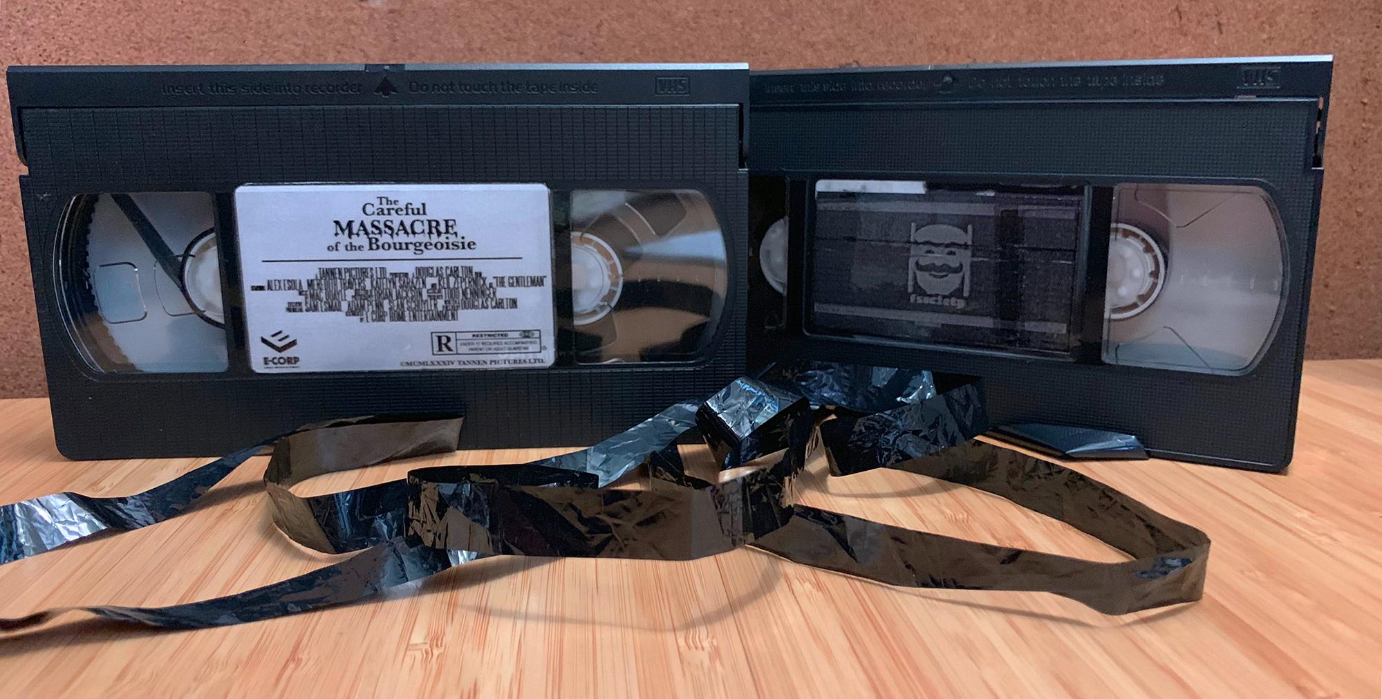 The 2 VHS tapes I destroyed for MR. Robot.