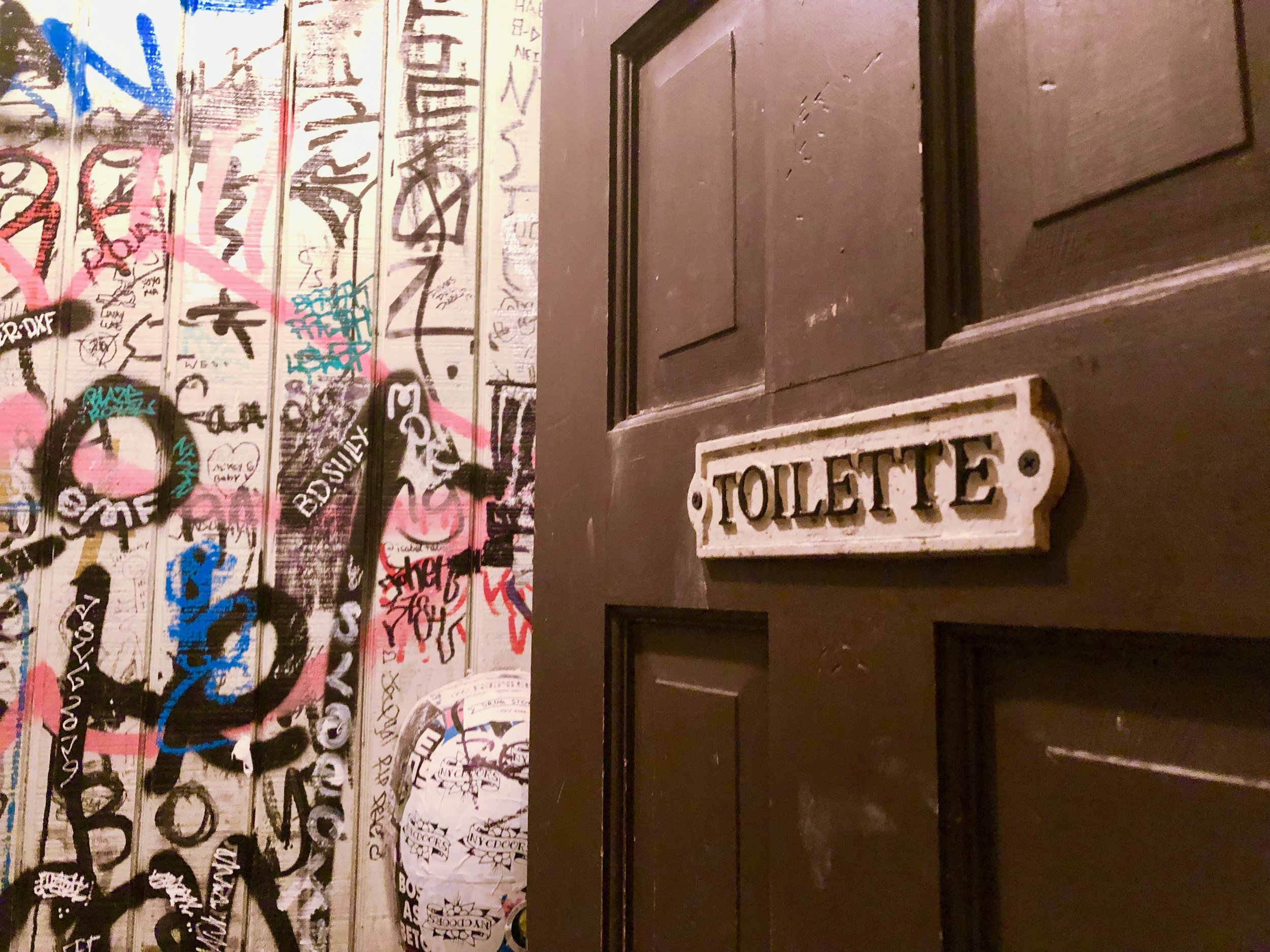 Brooklyn's best bathrooms - The bathroom at Three Diamond Door in Bushwick