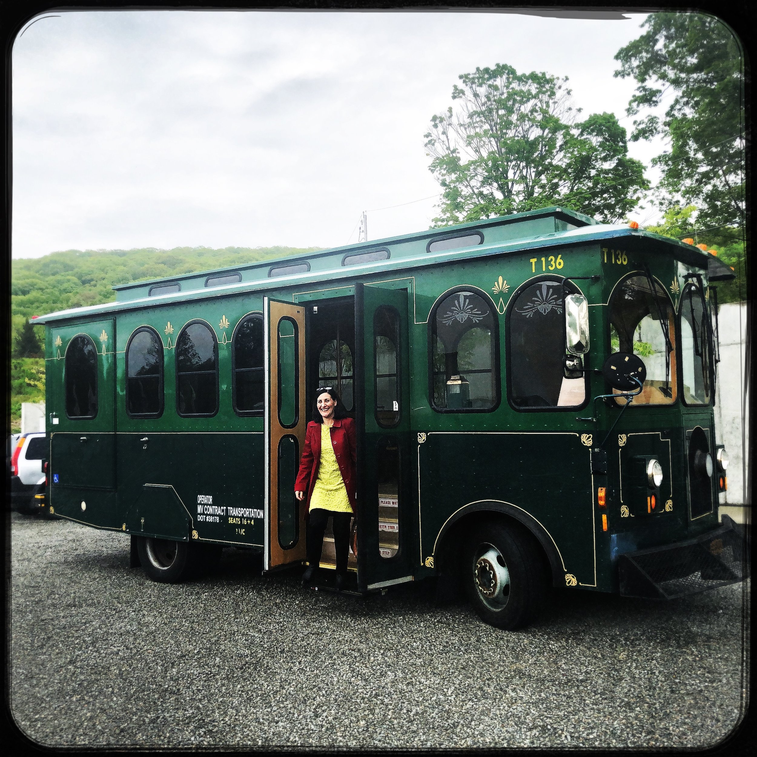 Here comes the Cold Spring Trolley - Taking Visitors to and from museums, hikes, and Cold Spring and Beacon Main Streets for fun, day-trip adventures.