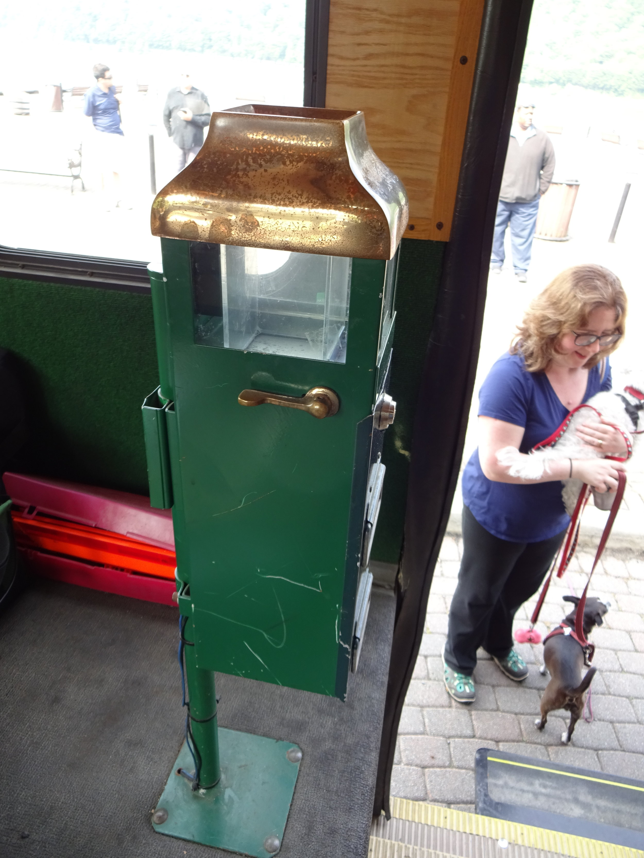 Trolley Fare Box - The trolley fare costs $2 for adults and $1 for senior citizens, students, ADA, and veterans. Children 12 and under ride for free. Riders must have the exact amount, the driver cannot provide change.