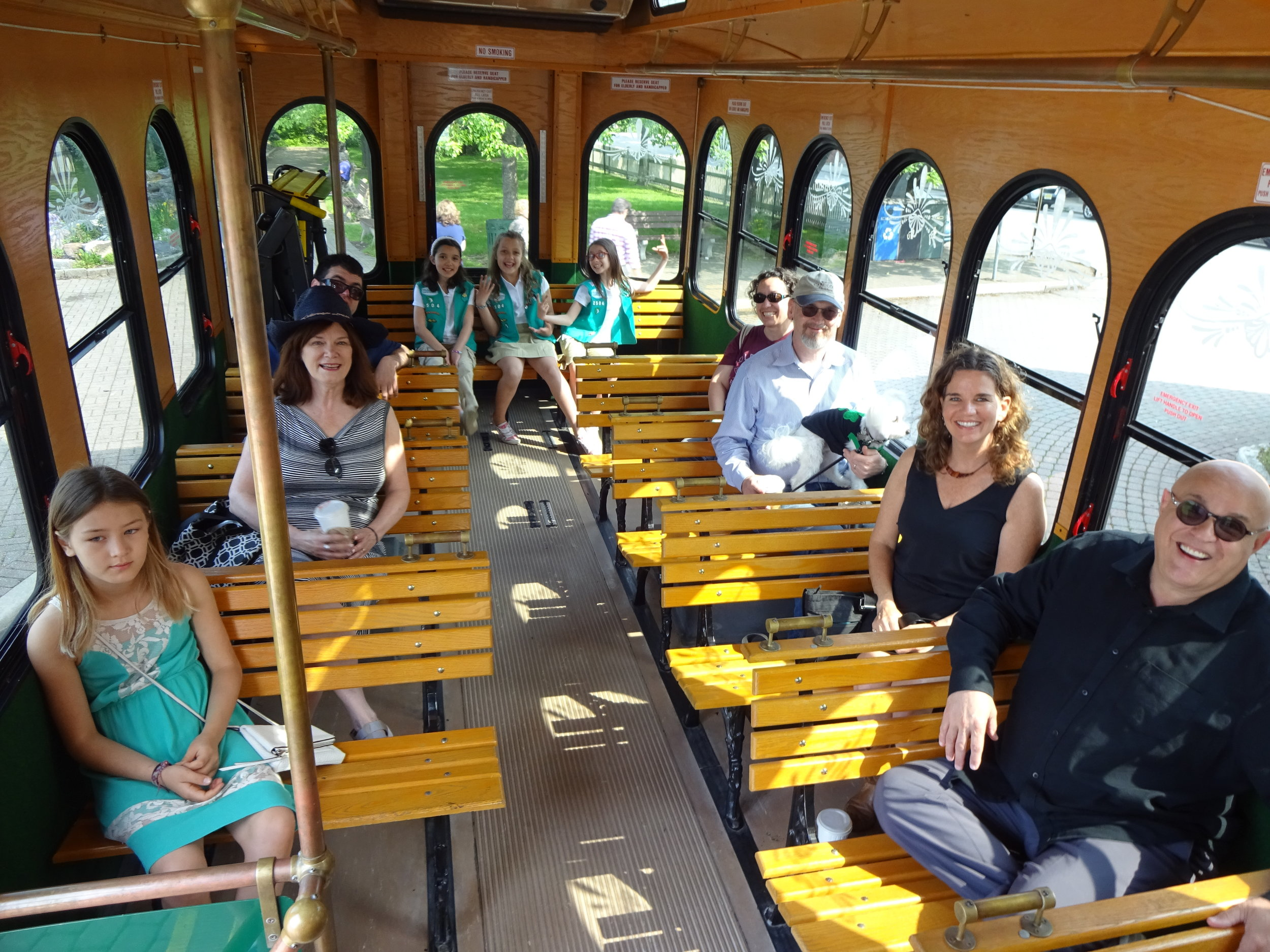 Enjoy The Ride! - Remember to always stay seated while the Trolley is in motion. Be considerate to your trolley driver and fellow riders, and bring any refuse you bring onto the trolley off with you when you exit the trolley. We hope you enjoy your ride.