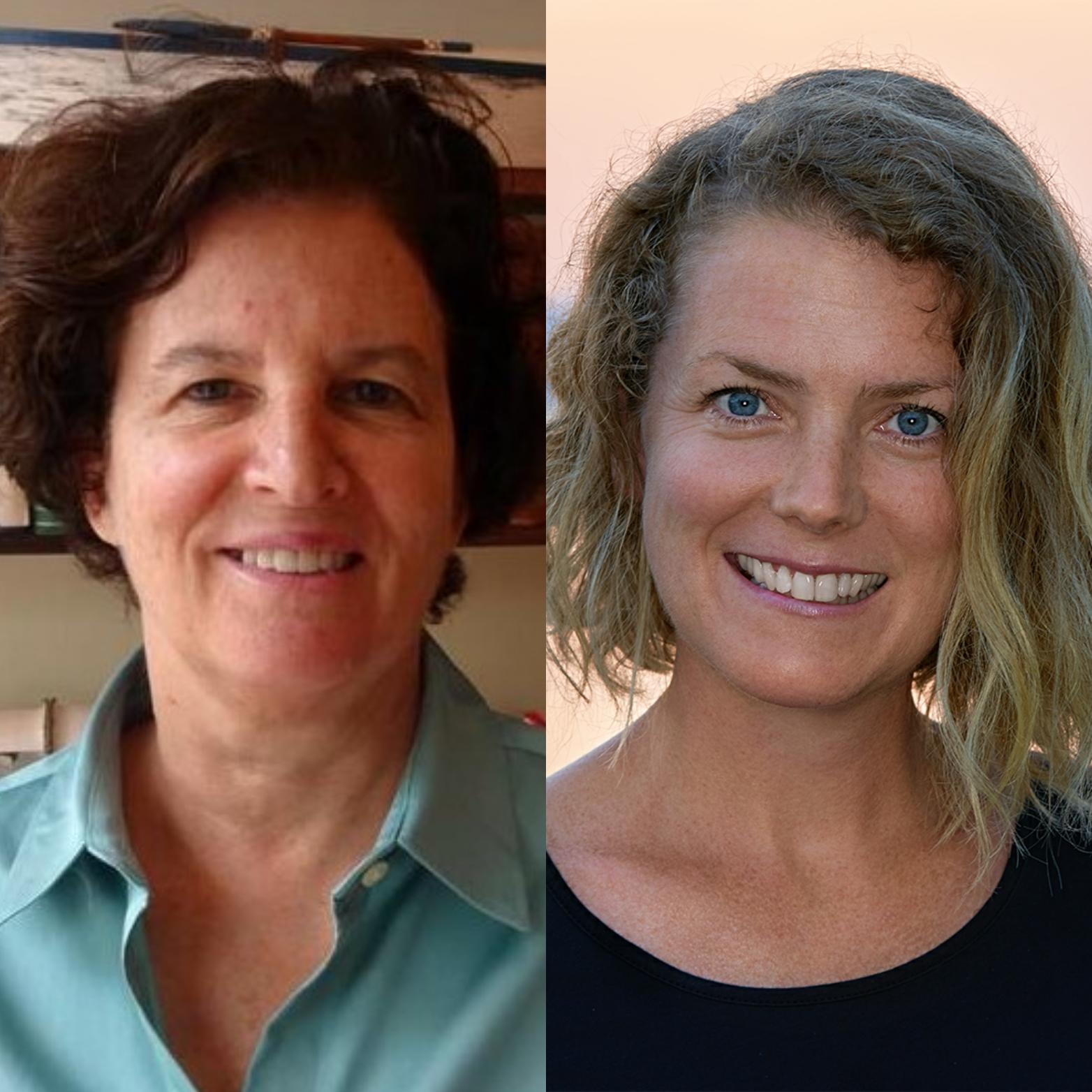New board members, Linda Kagan (left) and Ann McBride-Alayon (right).