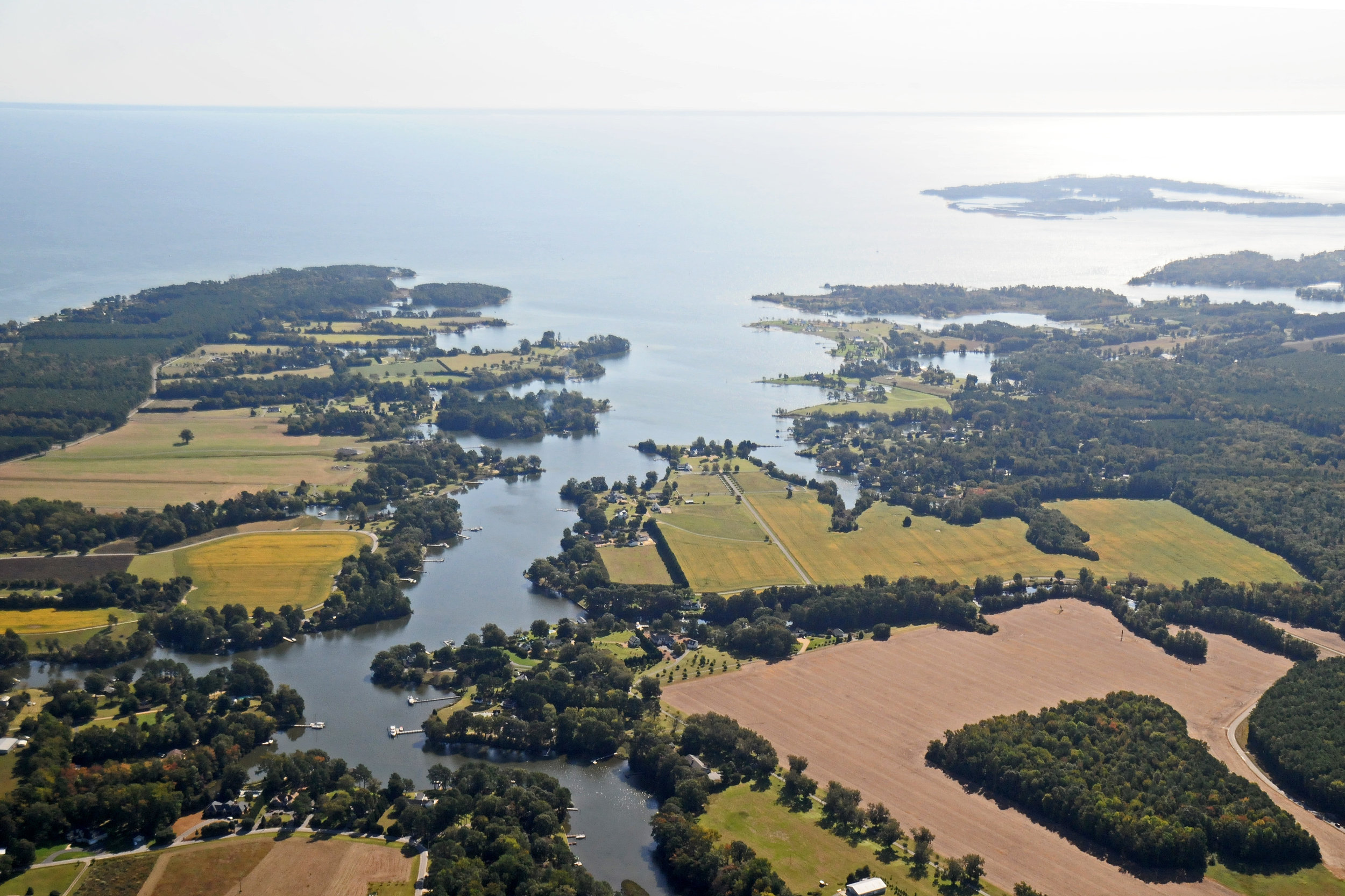 Dymer Creek and Chesapeake Bay, Virginia