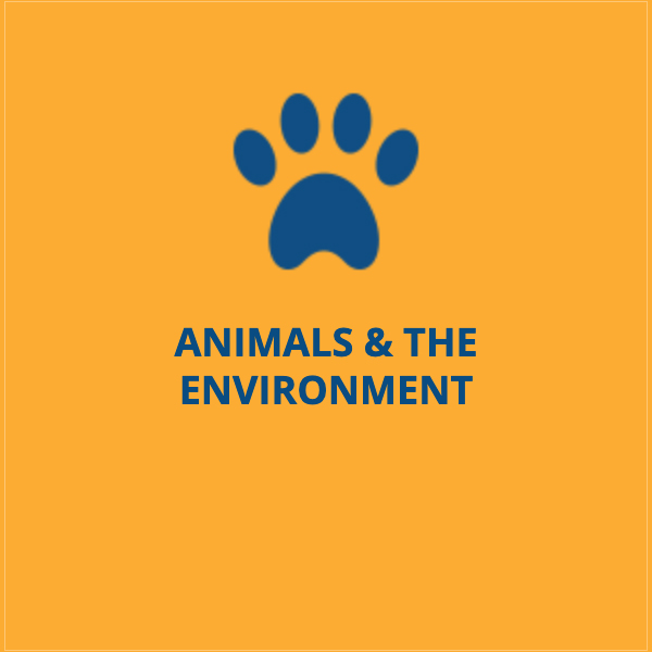 We're proud to give a voice to both animals and the environment.