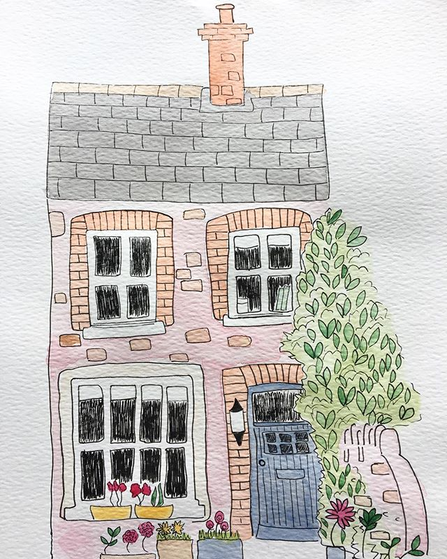 Since we started Three Little Birds, I have worked on commissions of house portraits 🏡 After my illustration and any calligraphy work is done, Neil then converts it to a giclèe print which we then mount (and often frame now if requested!) There's lots of info on the site but all queries are of course welcome. Next availability for commissions is July 💝