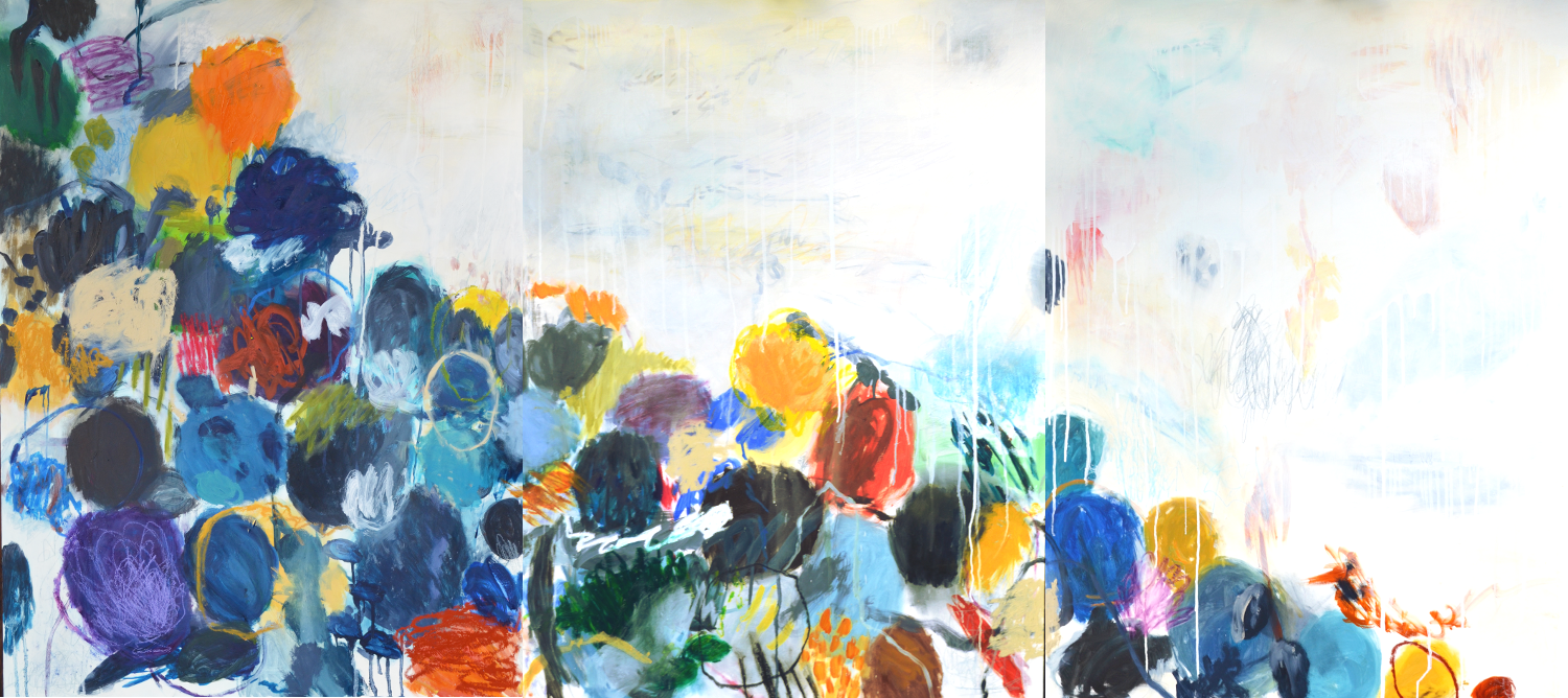 Meeting Point 2014 | oil paint | 40x90