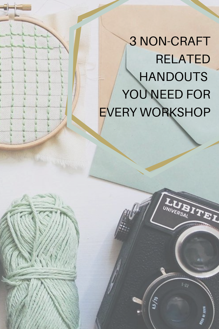 Lead your next creative workshop like a pro with these 3 must have handouts -