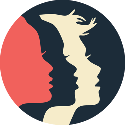 Women's March SF Round Social Profile - Silhouette Faces