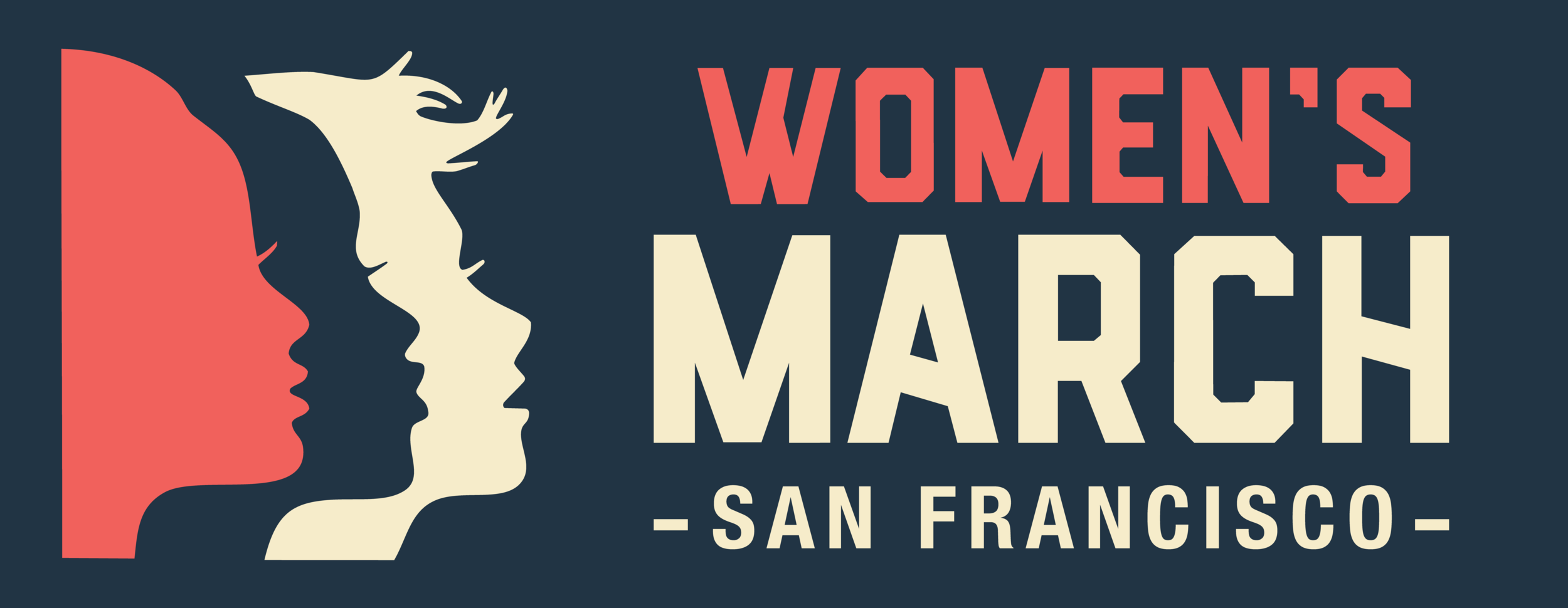 Women's March San Francisco Core Logo - Horizontal