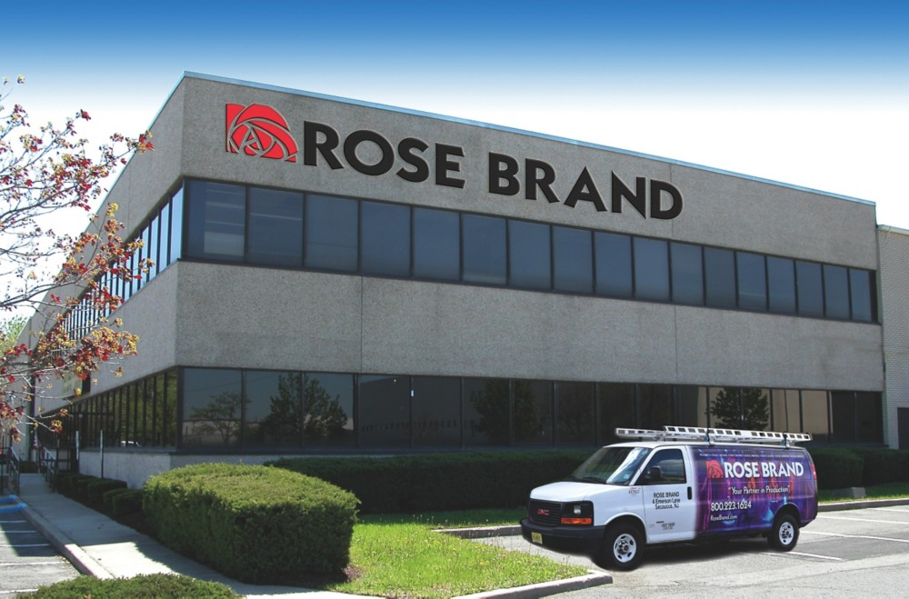 "ROSE BRAND - ""[…] manufacturing custom theatrical and event drapery, backdrops and virtually anything sewn with fabric for venues that range from high school auditoriums to Radio City Music Hall […]"""