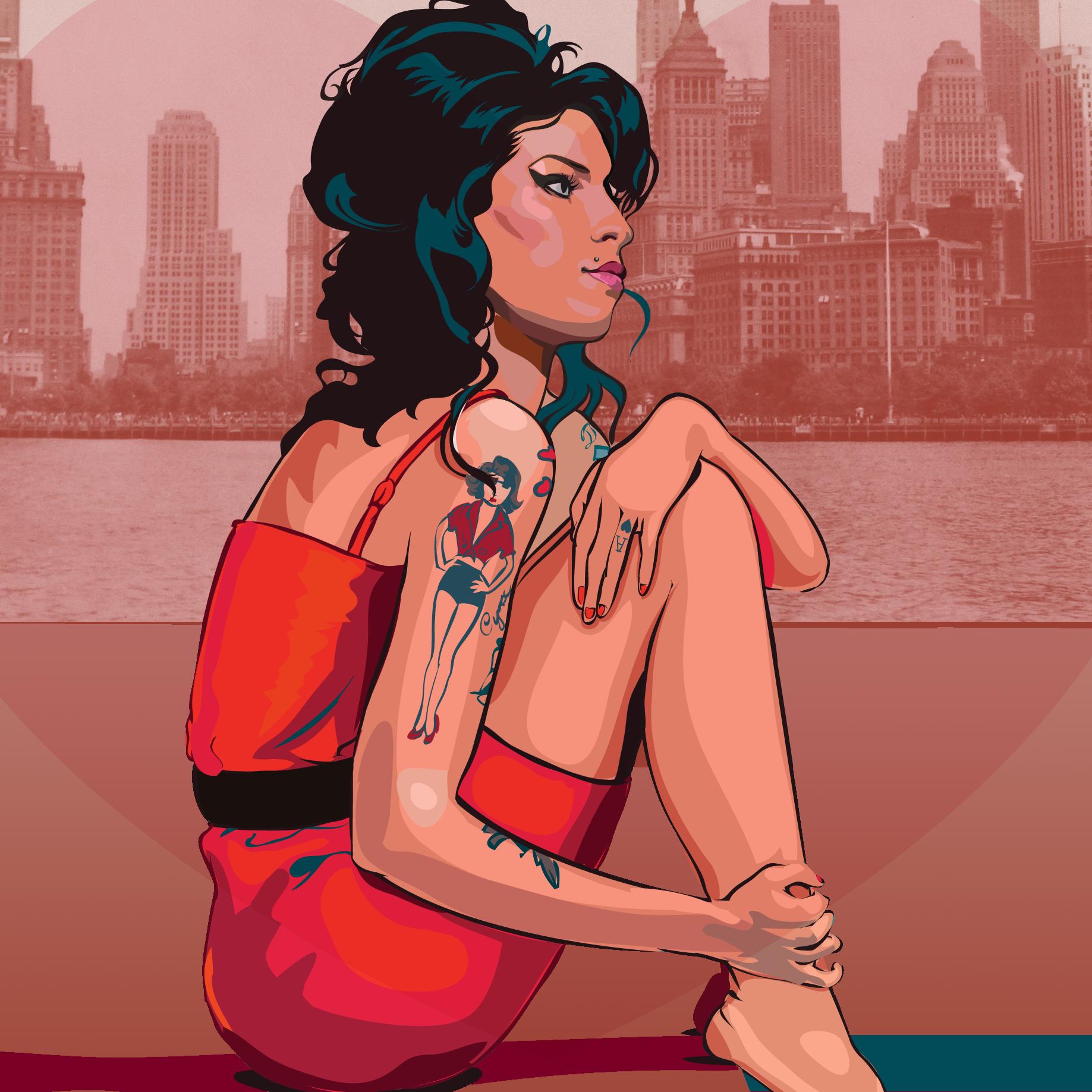 Amy Winehouse Illustration Josh Hunter The 27s 1
