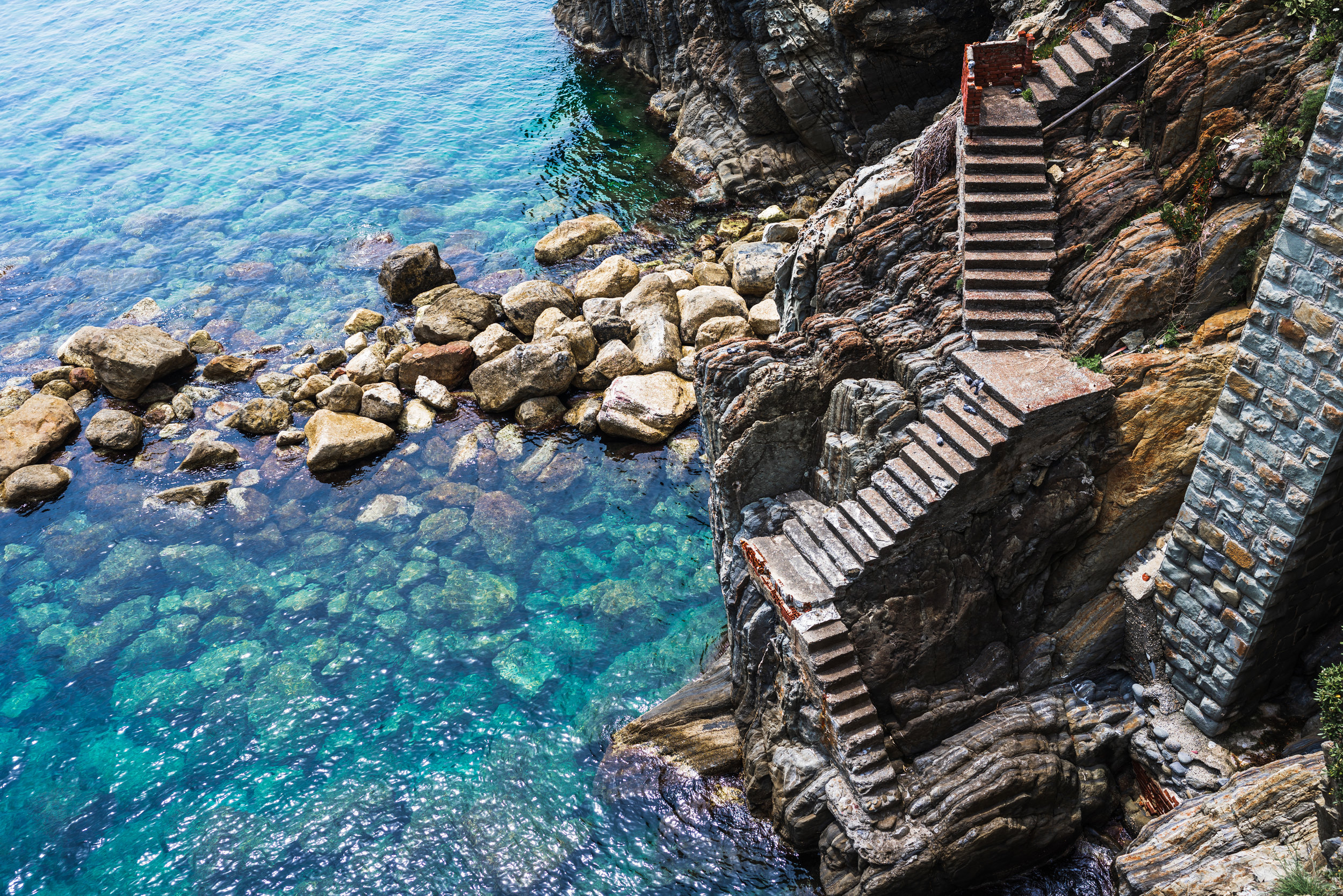 These stairs in Riomaggoire are a metaphor for all the verticality of Cinque Terre - or at least that's what I'm choosing to believe.