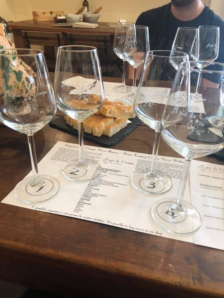 4 glasses for 4 wines!