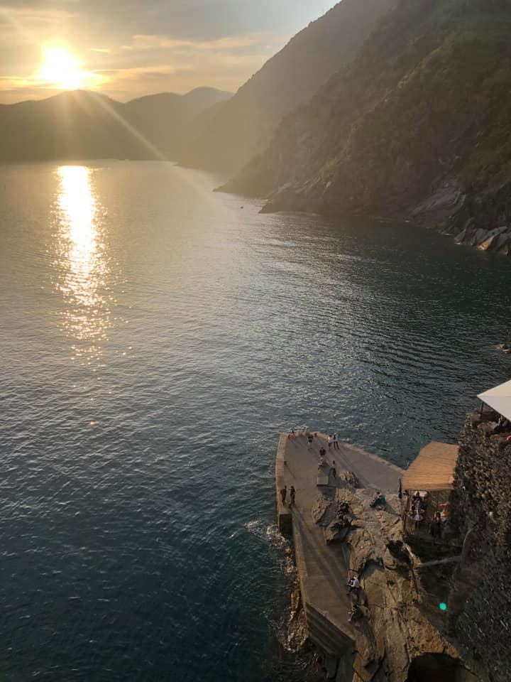 The gorgeous view of the bay from Vernazza.