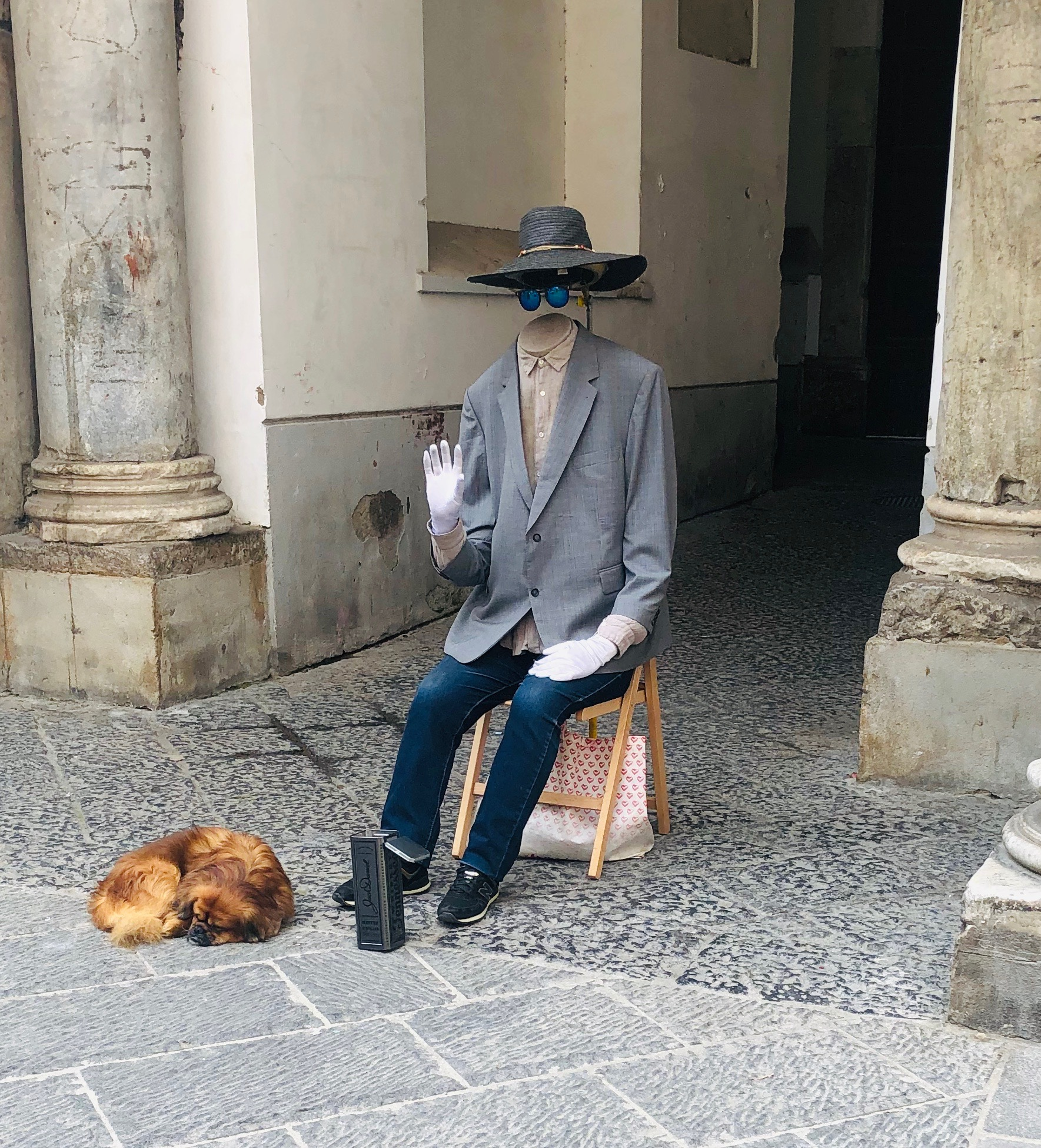 The invisible man, and his not so invisible dog.