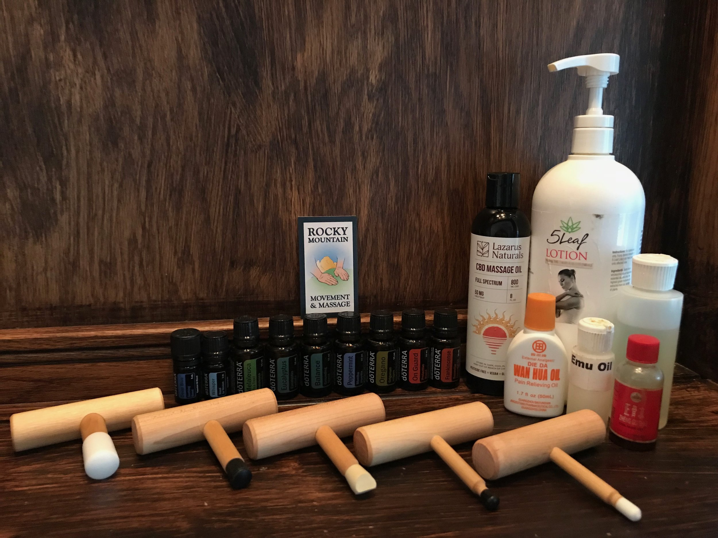 As a Massage Therapist I use Essential OIls, Liniments, CBD Oil, and T-Bars to enhance the quality and effectiveness of our bodywork.