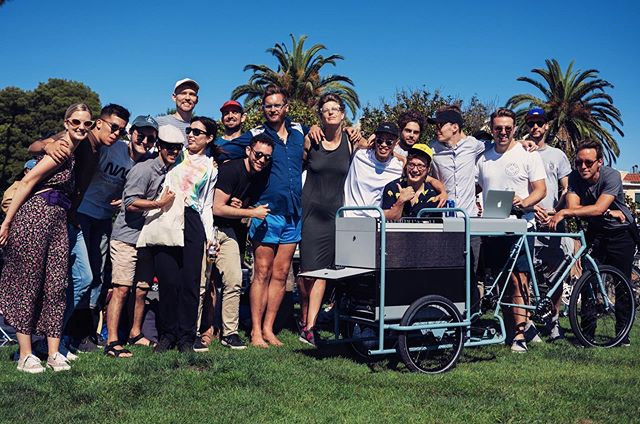 Past, present, and future friends come together. Let's start a movement on three wheels. 📷@linjevity #thedjtrike2 #publicsoundsystem #missiondolorespark #dolo #sanfrancisco #california