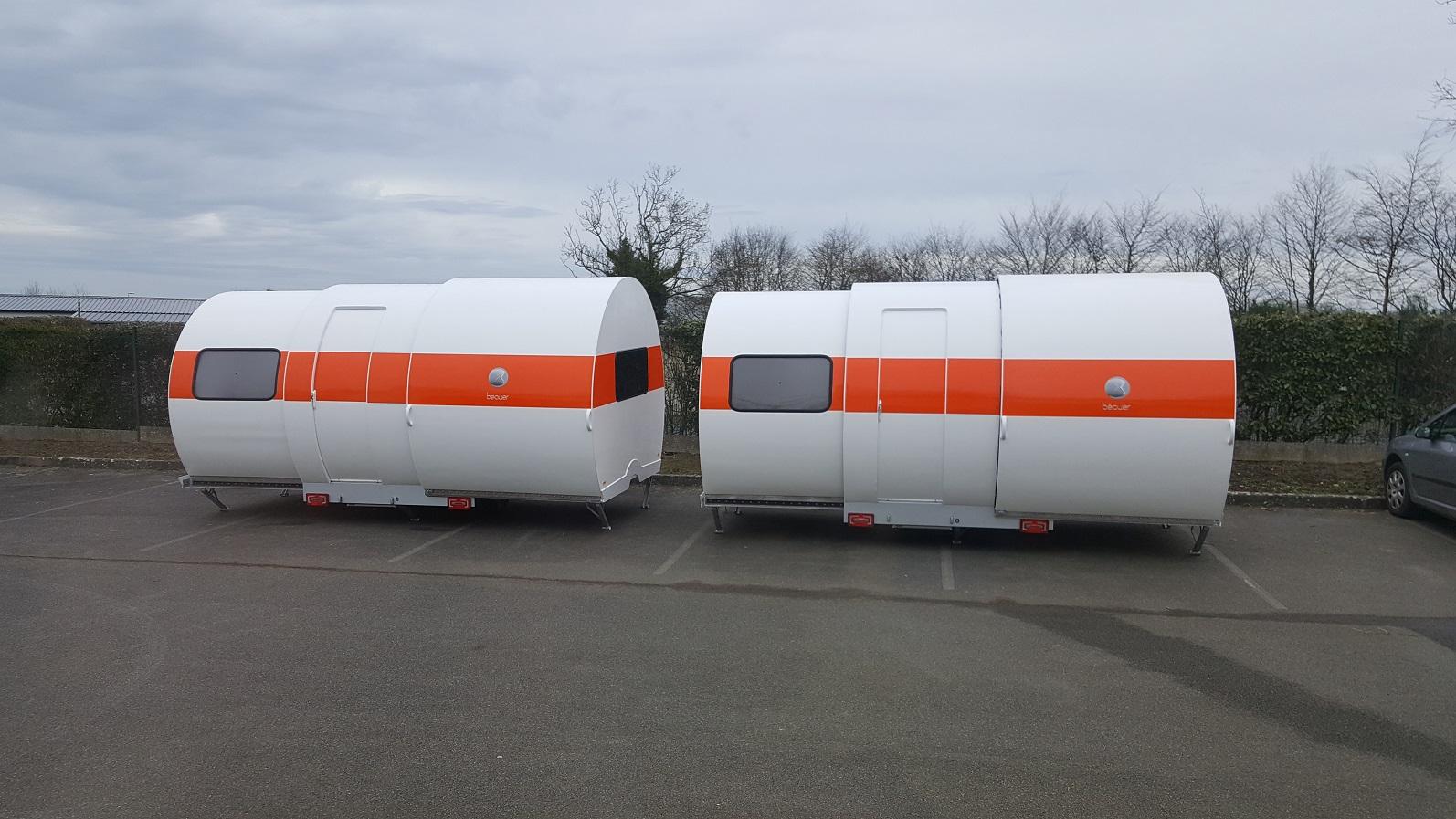 3X white body orange strip