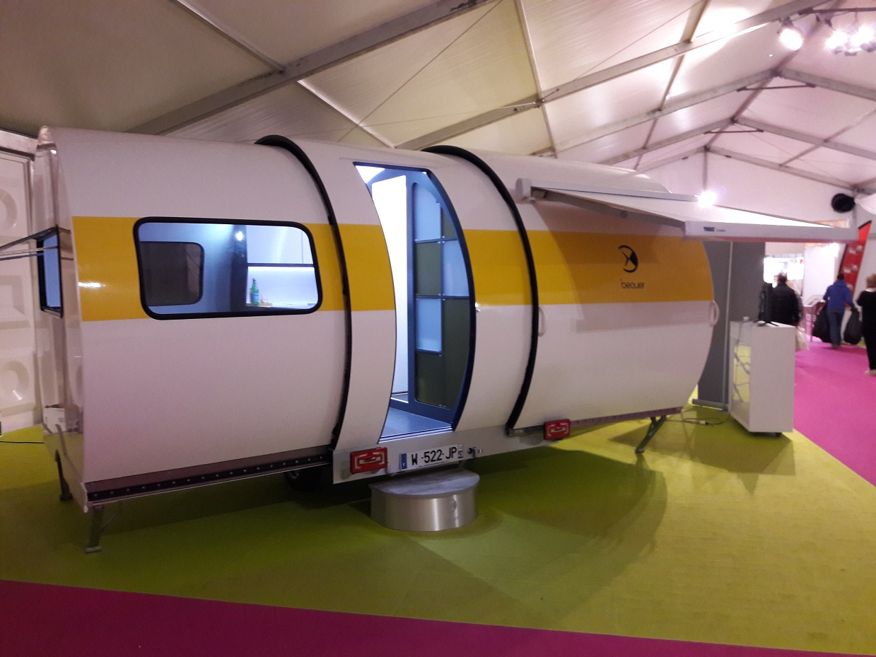 3X white body yellow strip with awning