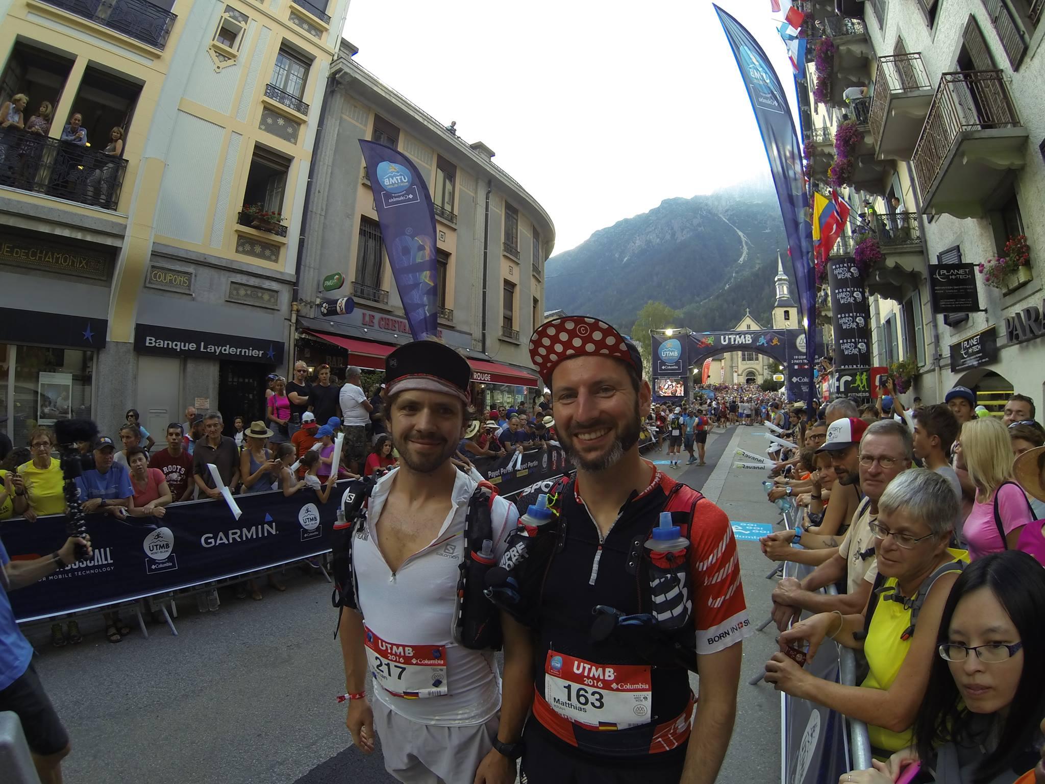 Mit Matthias Krah vor dem Start in Chamonix (Bild: Oliver Binz)
