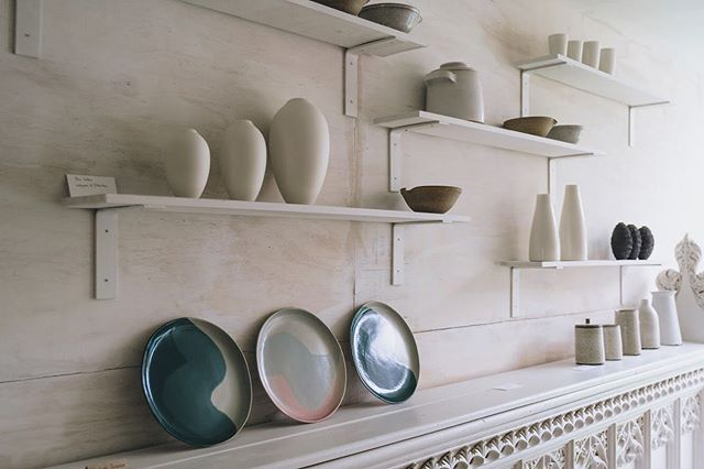 In case you haven't visited yet, here we are, open 12-6.  Pots in photo from @luciafraser @pottedben @throwingpots @tomcrewceramics @ejacksonjackson