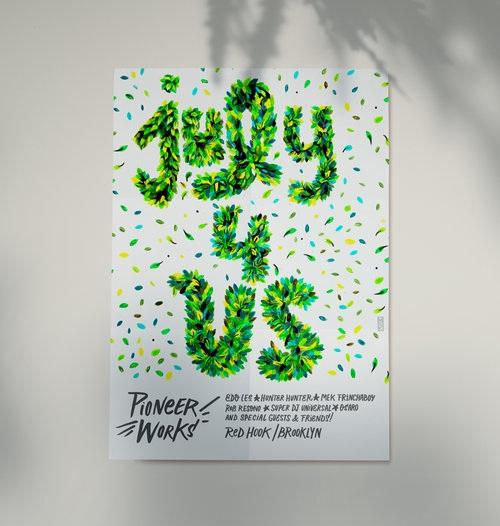 """""""July 4 us"""" Pioneer Works Flyer"""