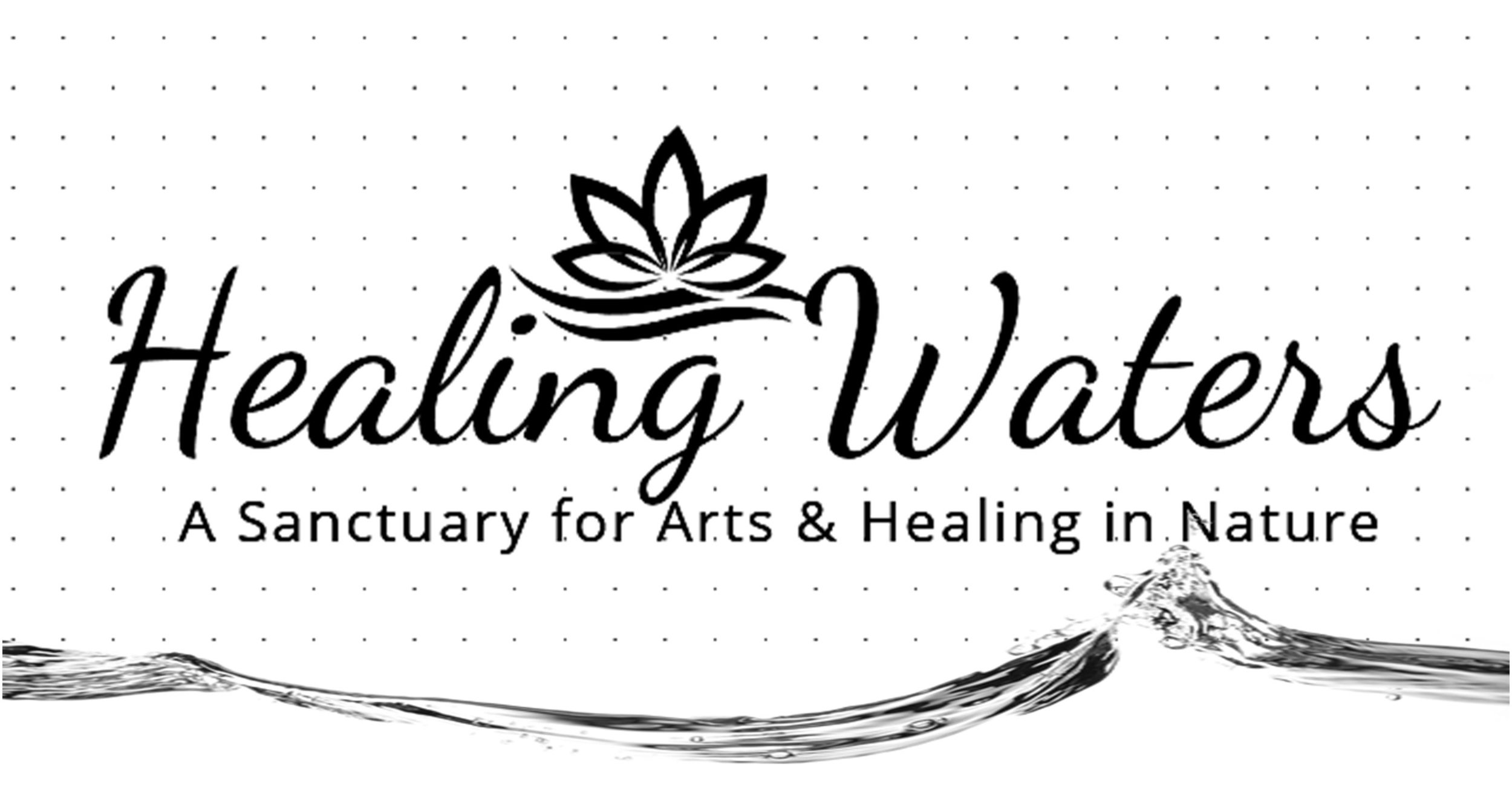 Healing Waters logo with water line BW.jpg