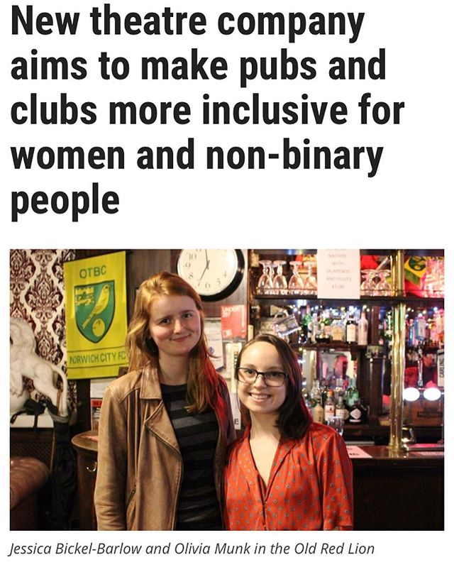 Our co-founders @munk0 & @jbickelb  are featured today in @thestageuk on the launch of Part of the Night! Don't miss our launch event #TheatreOnTap on June 17 @oldredliontheatre - book now via link in bio! 🎉