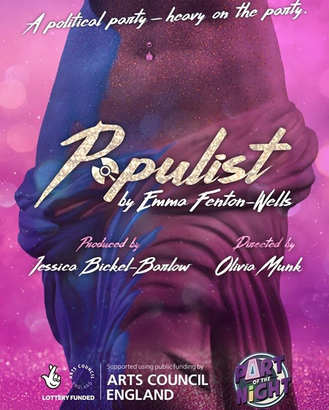 We're deep in the midst of our @aceagrams supported (💜!!) R&D of @populist4night — we're definitely exhausted but thrilled by the incredible work our female & non-binary artists have made. . @populist4night is a new nightclub play about how one woman uses her body to change the course of the Roman Republic. Written by @emmafentonwells, directed by @munk0, & produced by @jbickelb, #PopulistPlay features drag king performances & the sweet sounds of the millennium. . Sound designed by Anna Clock & movement directed by Laura Dredger. . Featuring: @vanessalabrie | @kit_griffiths | @lauratheexplorerldn | @grace_kelly_miller. . Follow @populist4night to learn more about the show, cast, crew, and upcoming productions... 🔮 . Special thanks to @draytonarmstheatresw5 & @outsidedge for their incredible support.