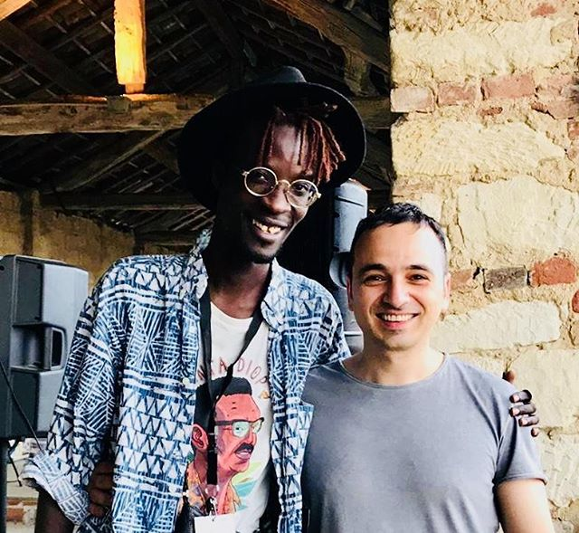 Me and @ibaaku at @jazzrefoundfestival - such a pleasure collaborate with him - his remix together with @waifaispirit is fire 🎷💚🔥 Enjoy! Link in bio  Thank you @beatsnrootsagency  @oyez_music