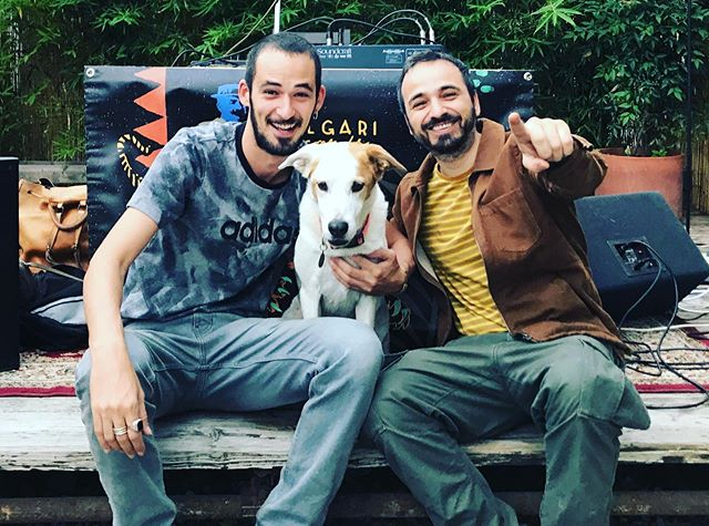 """Happy with """"Scivola"""" the dog and @davidevizio from @whoisninasimmons while listening  his """"Stockholm Rasta"""" remix 😍Check it out! Link in bio  Have a great week everybody 🔥☀️"""