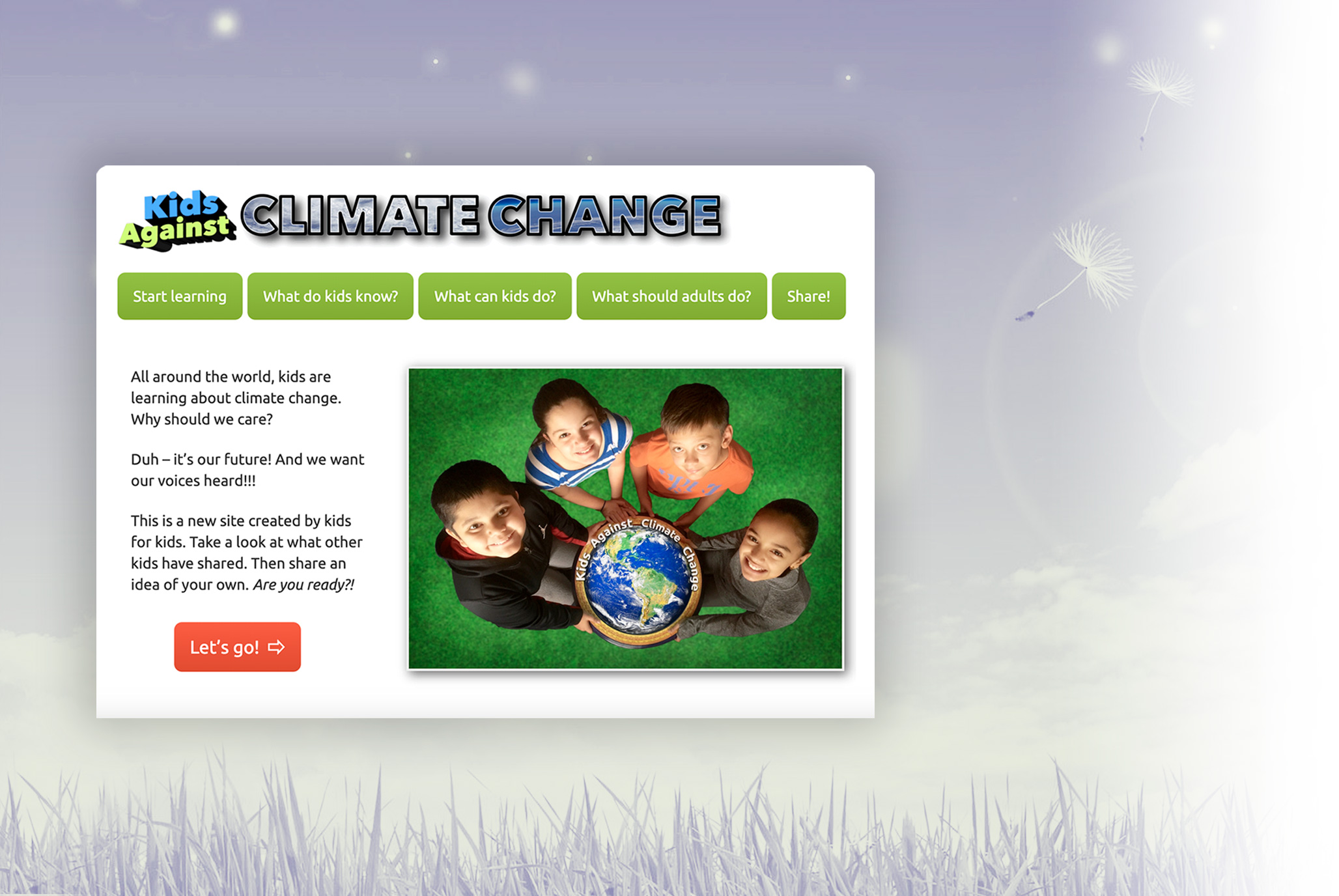 An authentic audience for students and free resources for teachers - Kids Against Climate Change is a website by kids for kids, hosted by Ms. Christie-Blick.