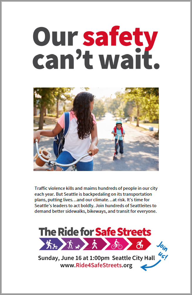 Poster - Print posters and put them up in bike and coffee shops and on utility poles (where legal).