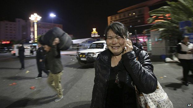 China knife attack, 29 dead.