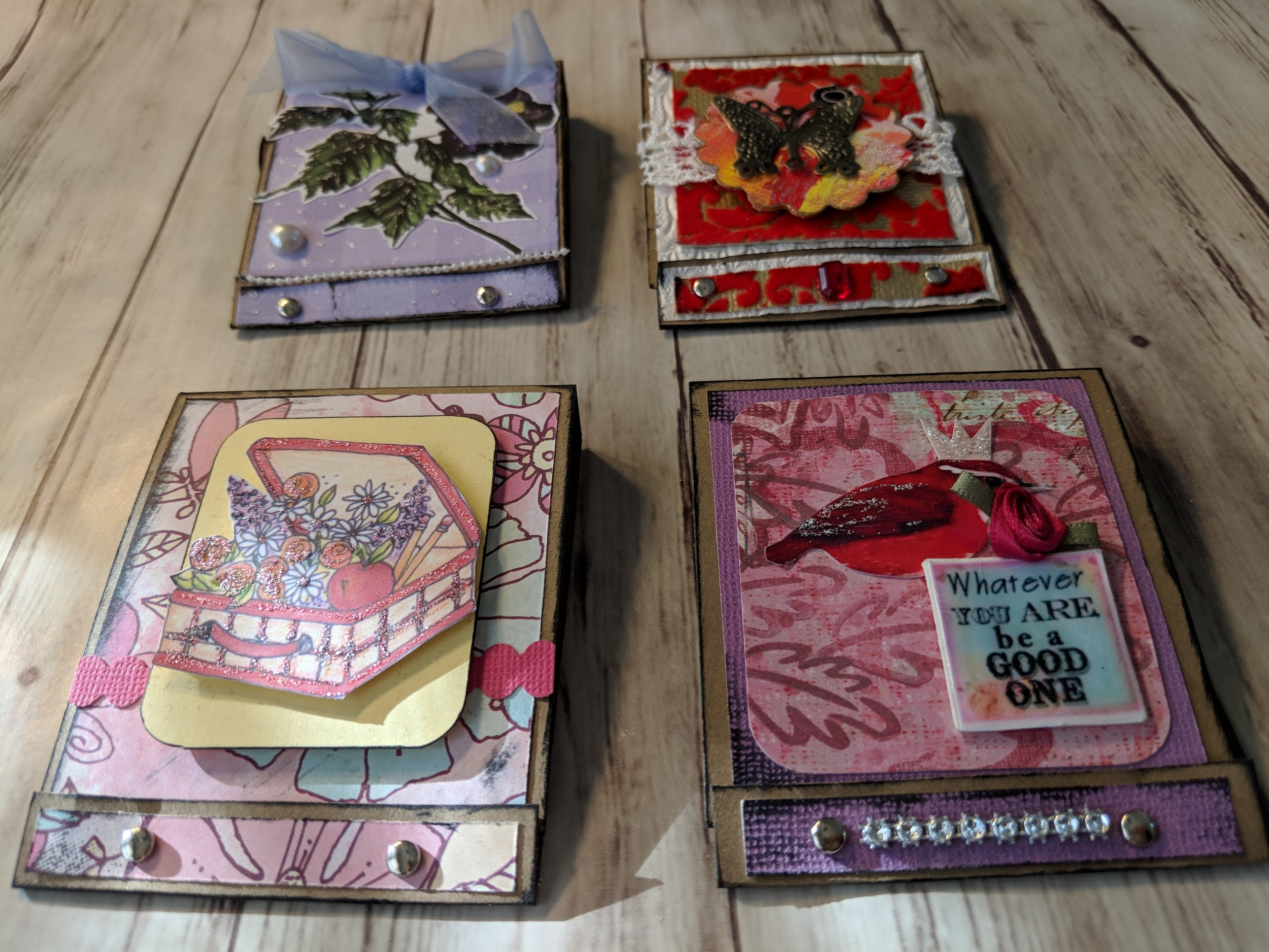 Mini Handmade Matchbooks filled with tiny pieces of art.
