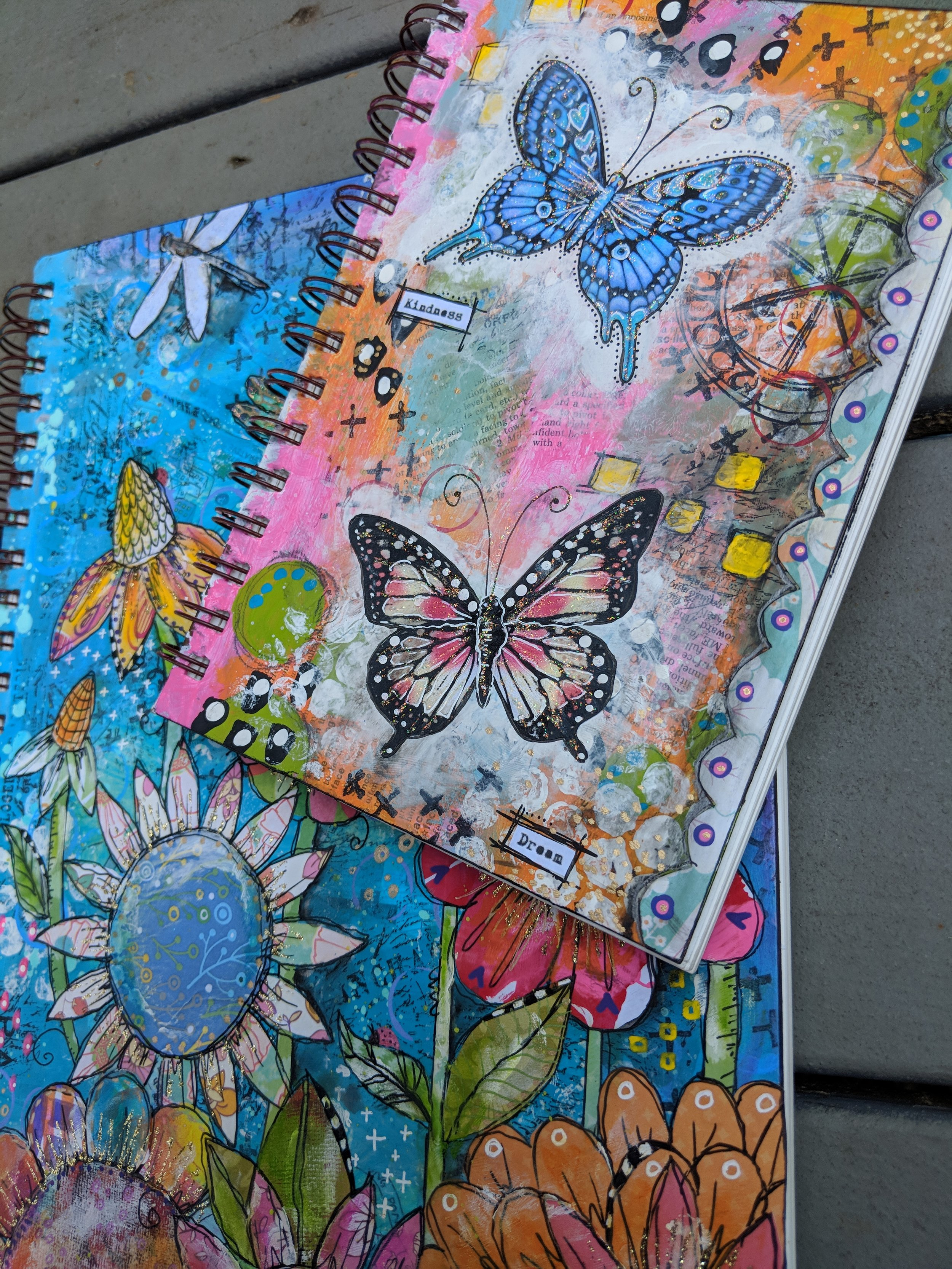 One of a kind art journal covers for a favorite customer!