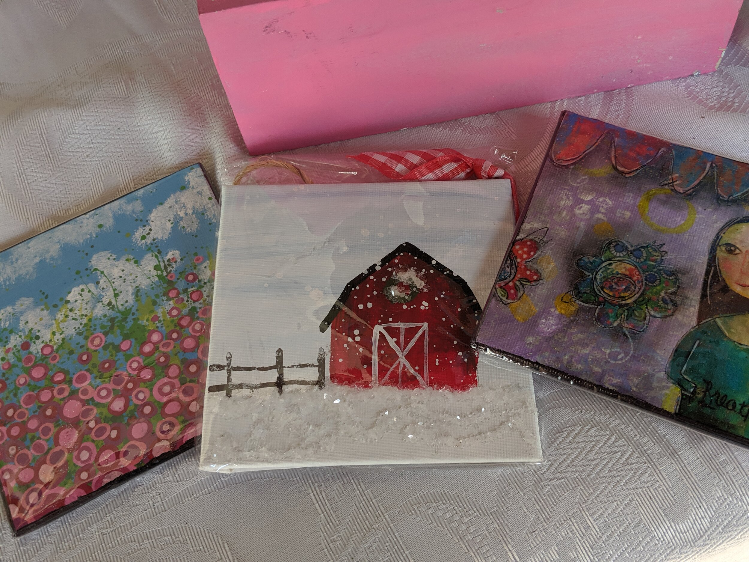 Small paintings and little ornaments are just a few of the pieces that went to a new home today!
