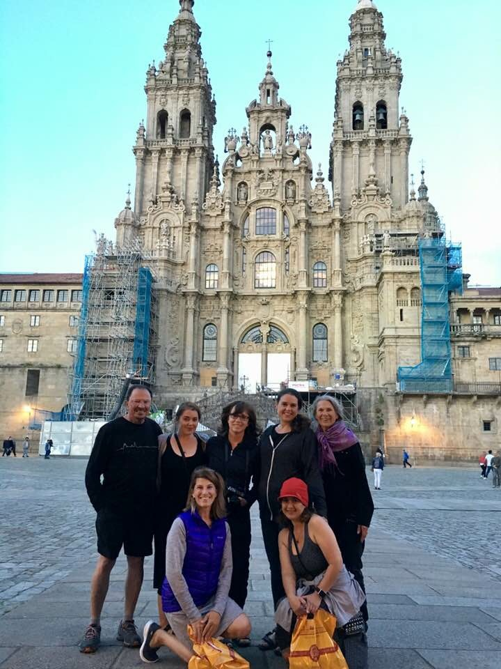We made it! - I did make it to the Santiago de Compestela. I ended up walking about 75 miles of our 100 and the last bit was very painful, but an incredible celebration at the end.
