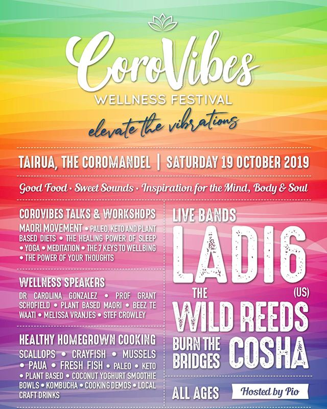 Four awesome live bands, an inspirational line up of 7+ speakers and workshops, all for $80 early bird tix still avail for limited time www.corovibes.co.nz/tickets @ladiwho @thewildreeds @cathedralcovenaturals @manaia_kitchen #festival #goodvibes #corovibes #tairua #goodforyoursoul @thecoromandel @melissavranjesyoga @thenatureofbalance @prekure @maorimovement